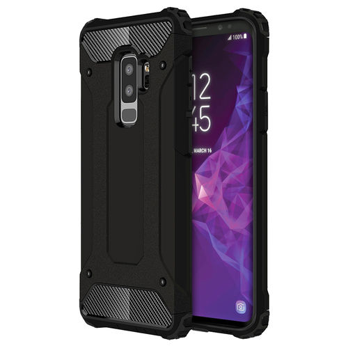 Military Defender Shockproof Case for Samsung Galaxy S9+ (Black)